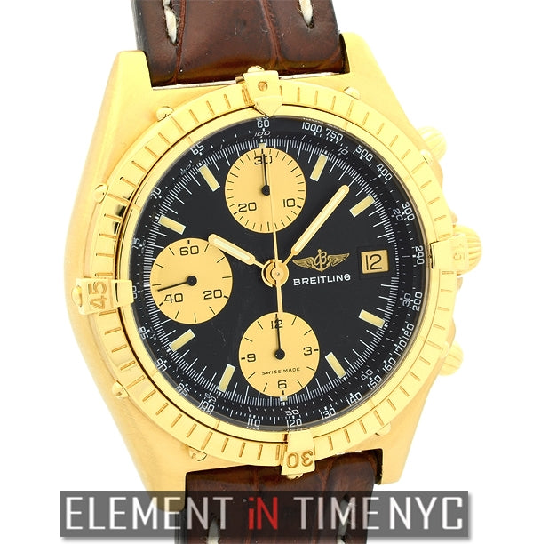 18k Yellow Gold 39mm Black Dial