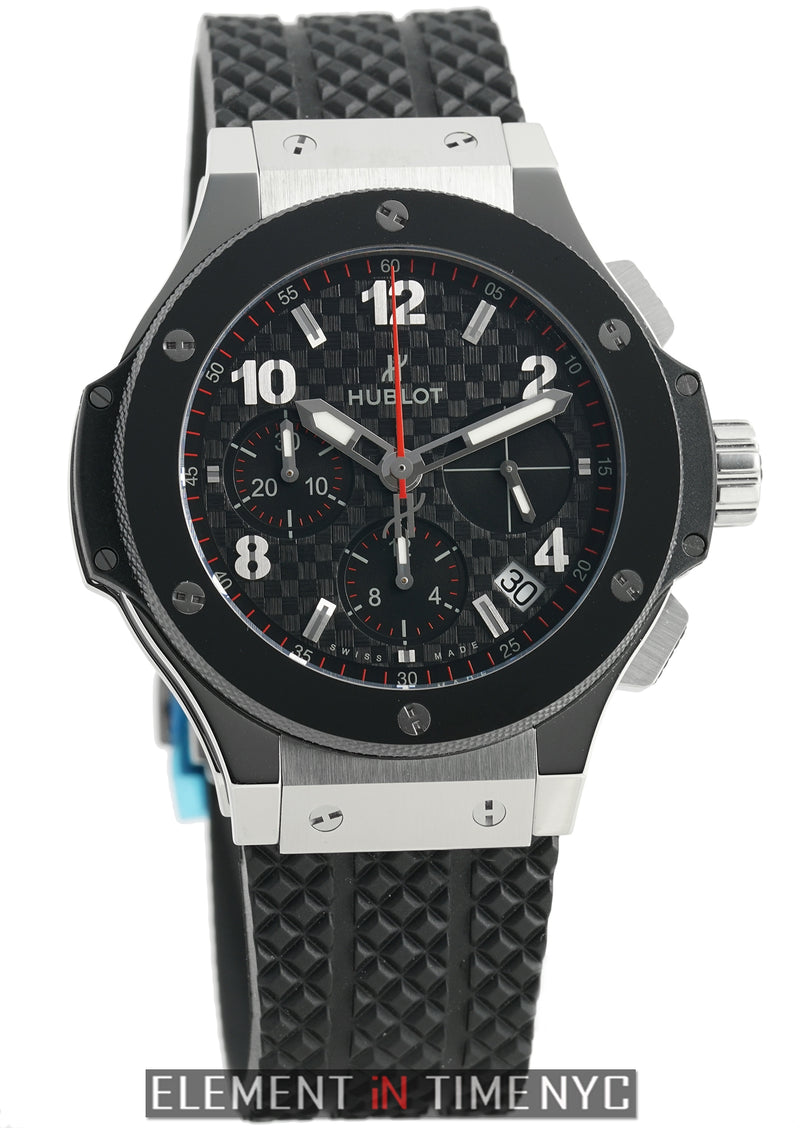 Stainless Steel 41mm Chronograph Carbon Fiber Dial