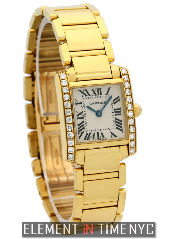 Tank Francaise 18k YG Diamond Case Ladies 20mm