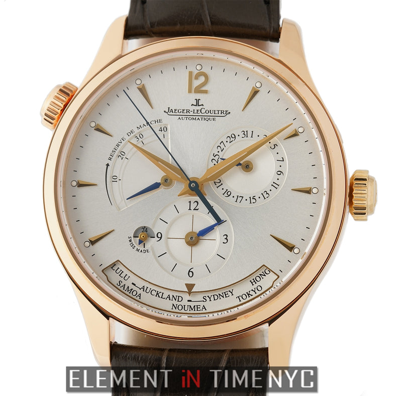 Master Geographic 39mm 18k Rose Gold Silver Dial