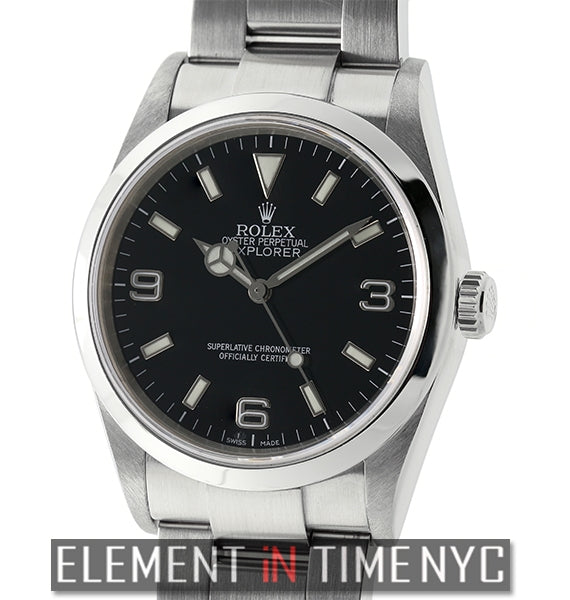Stainless Steel 36mm Black Dial Z Serial Circa 2006