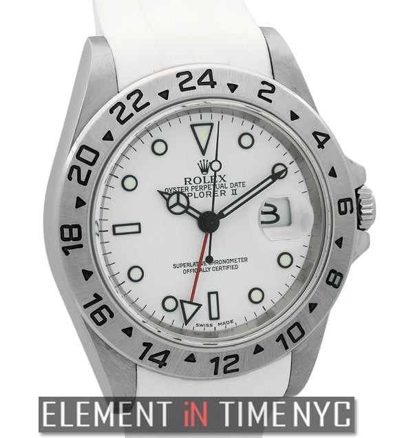 Stainless Steel White Dial On RubberB F Serial