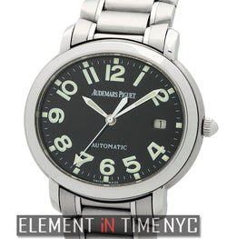Stainless Steel Black Dial 38mm
