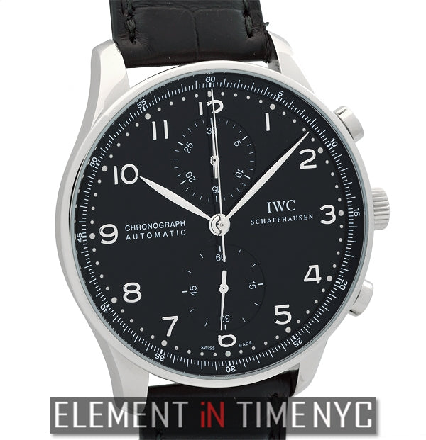 Chronograph Stainless Steel Black Arabic Dial