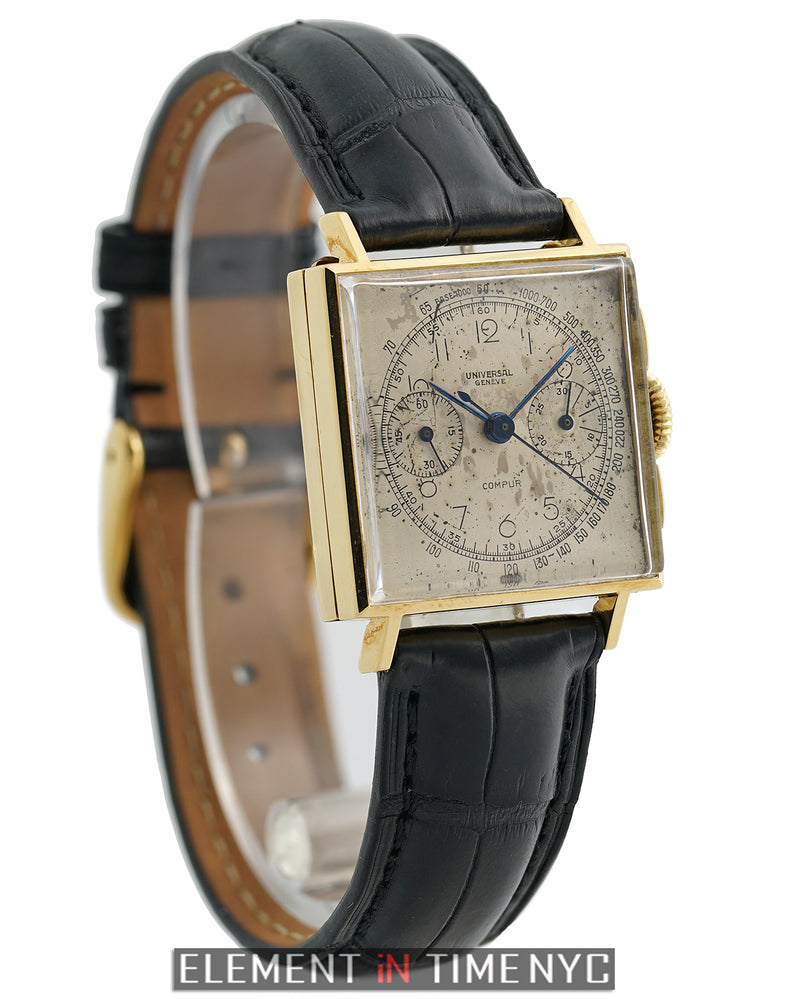 Compur Vintage Chronograph 18k Yellow Gold 1940's