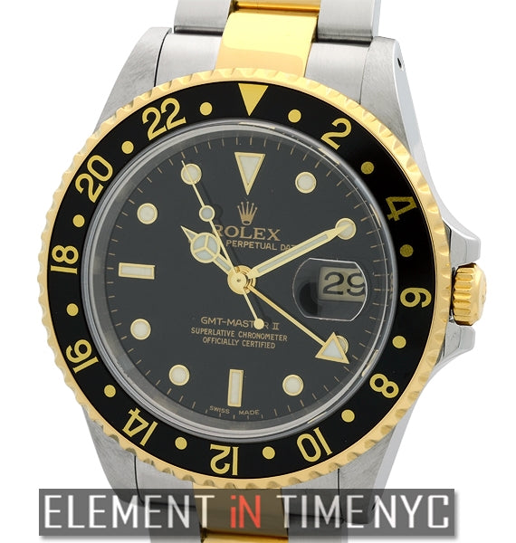 Steel & Gold Black Dial P Serial