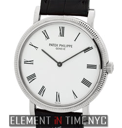 18k White Gold White Roman Dial 35mm