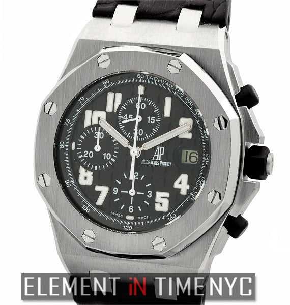 Black Themes Chronograph Stainless Steel