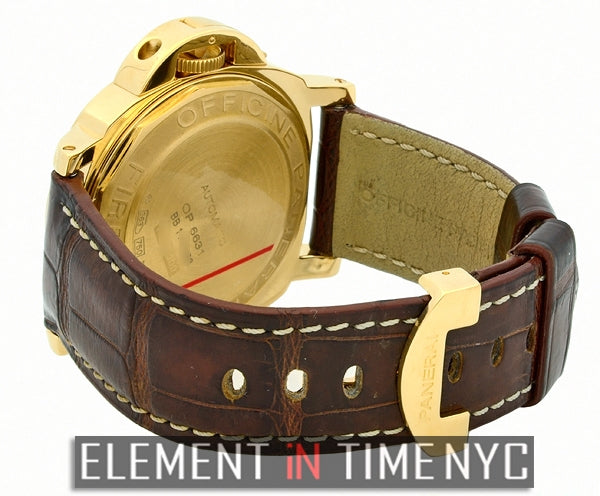 Luminor Marina 44mm 18k Yellow Gold Carbon Fiber Dial