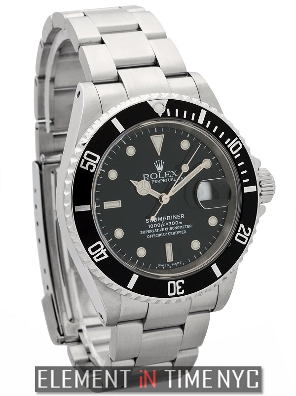 Stainless Steel Black Dial 40mm Circa 2005