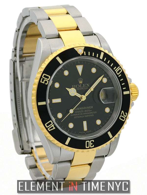 Steel & Gold Black Dial Y Serial