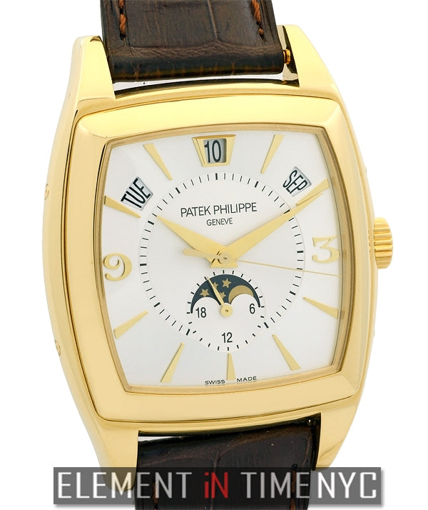 Calendario Annual Calendar Moonphase 18k Yellow Gold