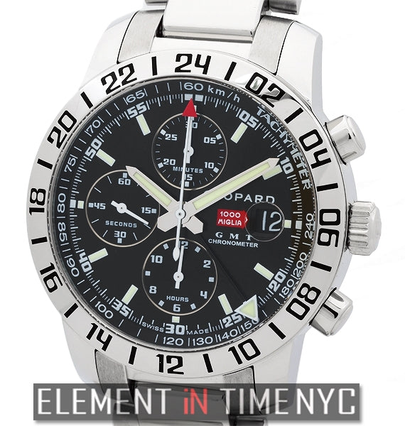 GMT Chronograph 42mm Black Dial