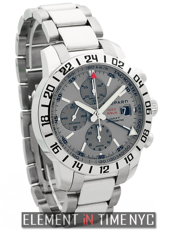 GMT Chronograph 42mm Silver Dial