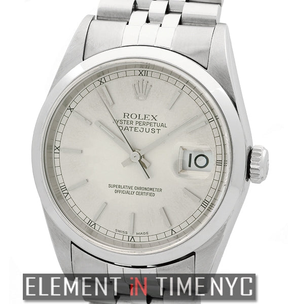 Stainless Steel 36mm Silver Stick Dial A Series