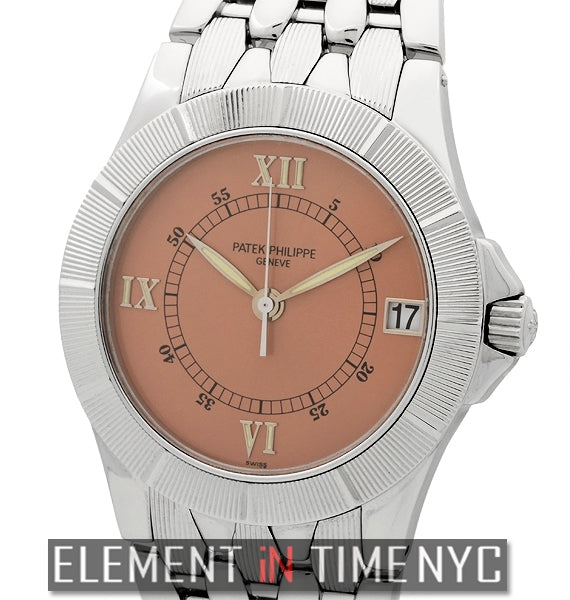 Neptune Stainless Steel Salmon Dial 37mm