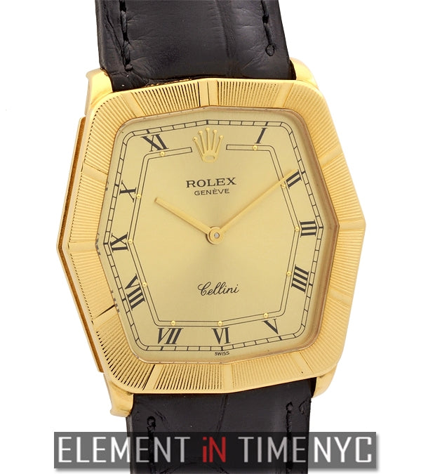 18k Yellow Gold 31mm Champagne Dial W Serial