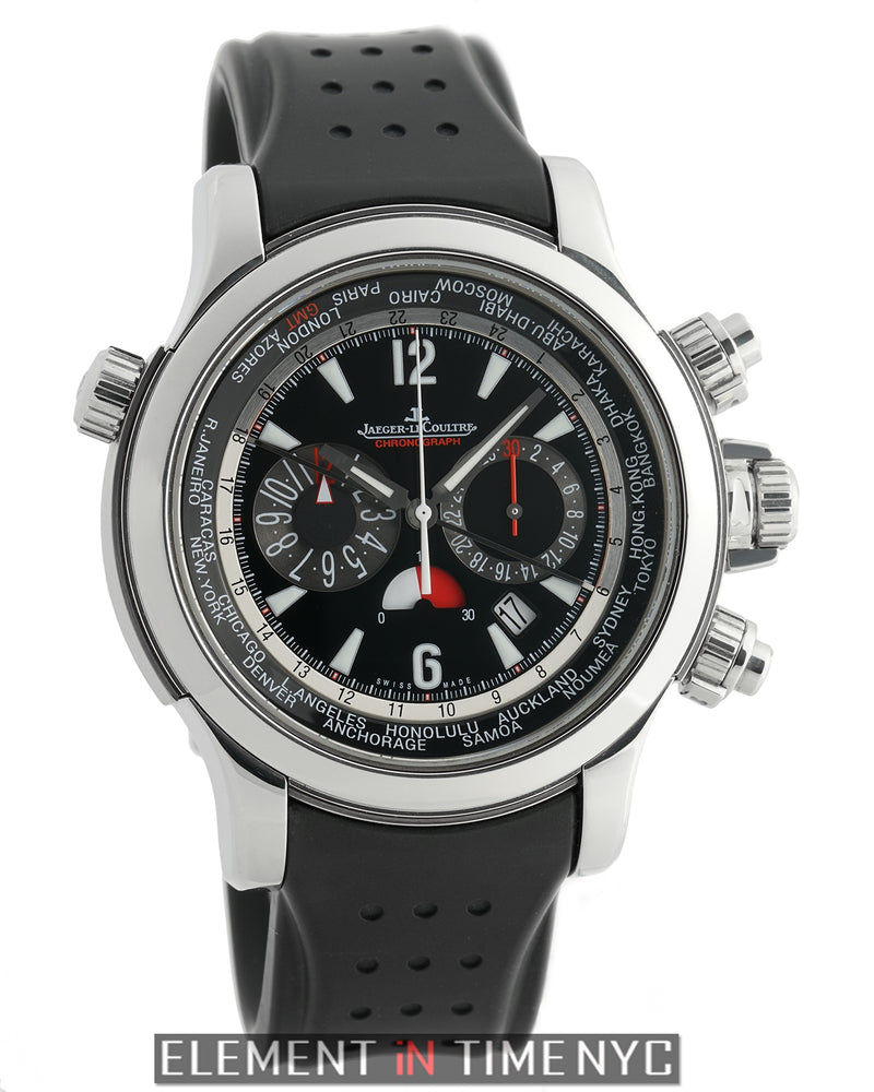 Extreme World Chronograph Steel 46mm Black Dial