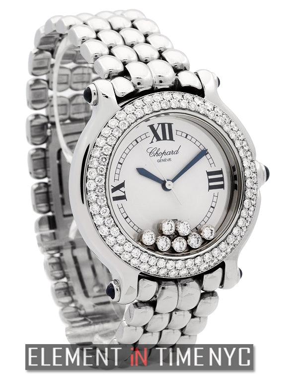 7 Floating Diamonds & Diamond Bezel