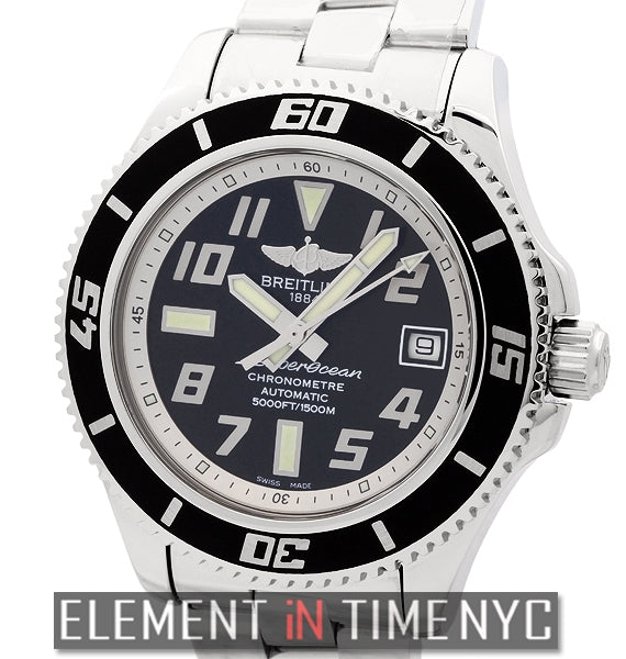 Superocean 42 Stainless Steel Black Dial