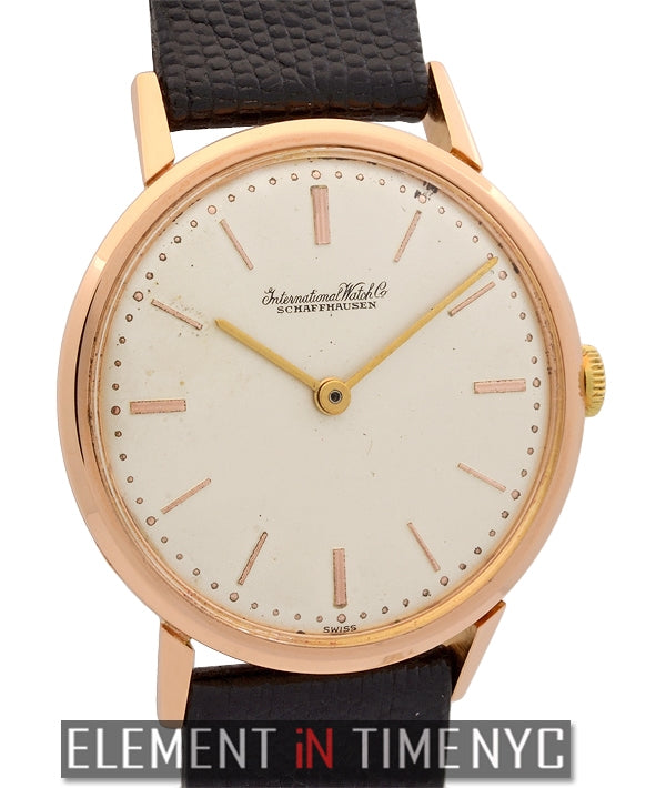 19k Rose Gold Dress Watch 34mm