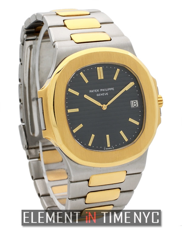 Steel & Gold 32mm Black Dial