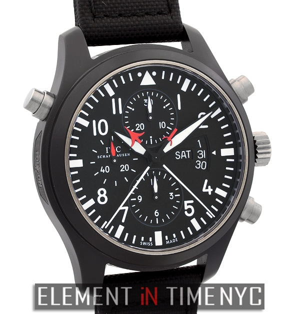 Pilot Double Chronograph Top Gun Ceramic