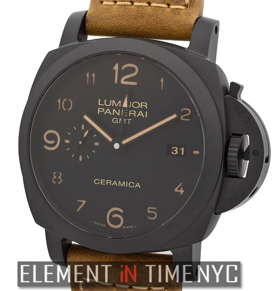 Luminor 1950 3 Days GMT Automatic Ceramic 44mm Black Dial