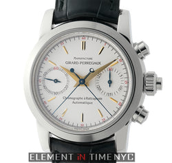 Chronograph Rattrapante Stainless Steel 38mm Silver Dial