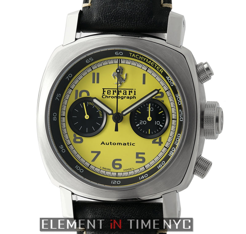 Ferrari Gran Turismo Chronograph 45mm Yellow Dial