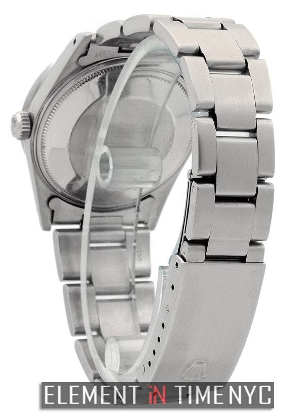 Date Stainless Steel Silver Index Dial 34mm
