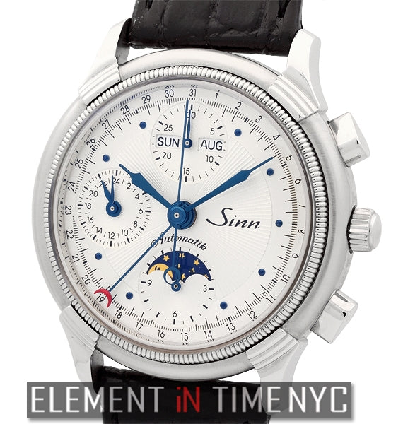 Triple Calendar Moonphase Stainless Steel