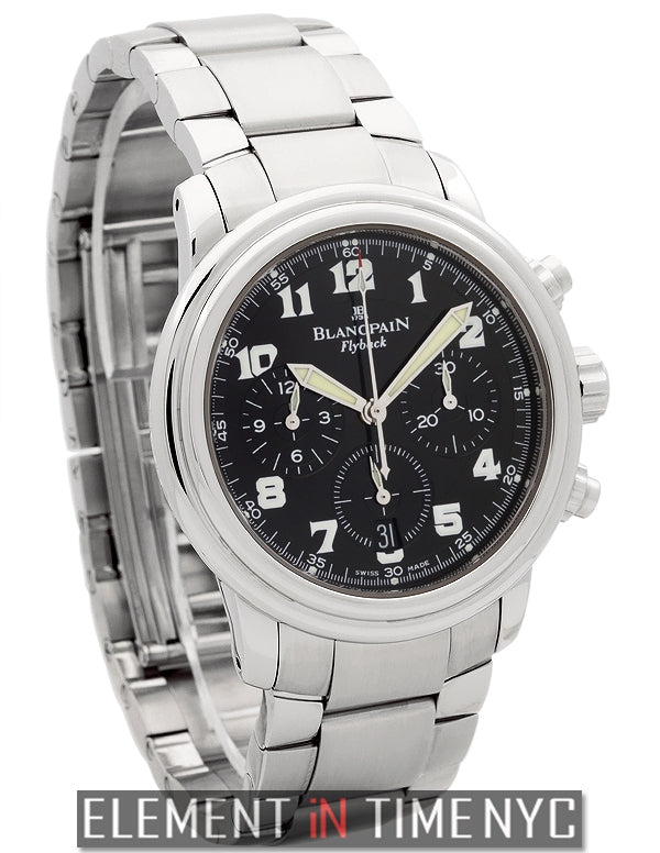 Flyback Chronograph Stainless Steel Black Dial