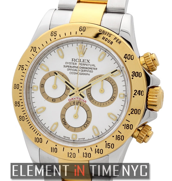 Steel & Gold White Dial