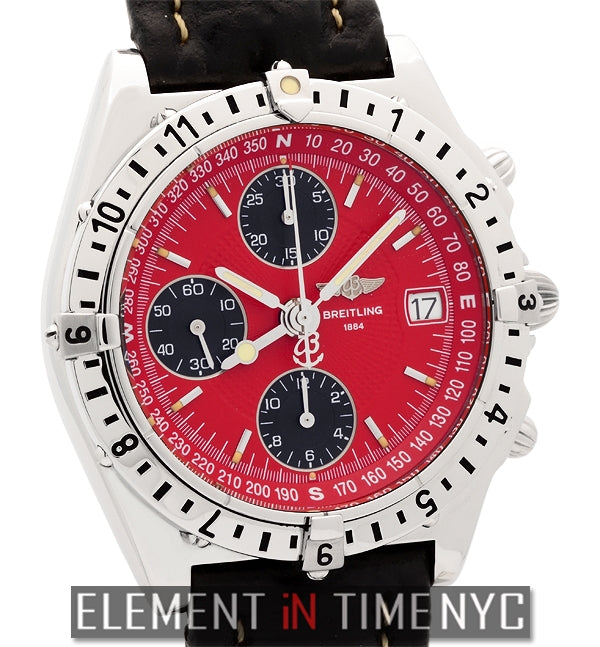 Longitude Chronograph Red Dial