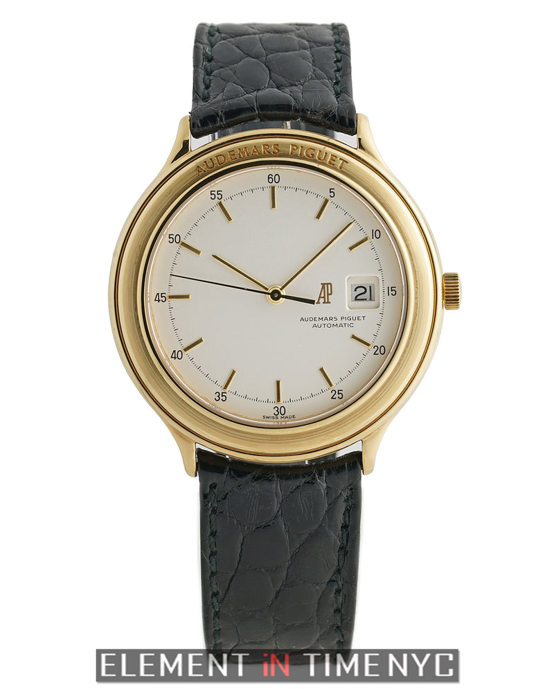 18k Yellow Gold 40mm Silver Dial Automatic 1990's