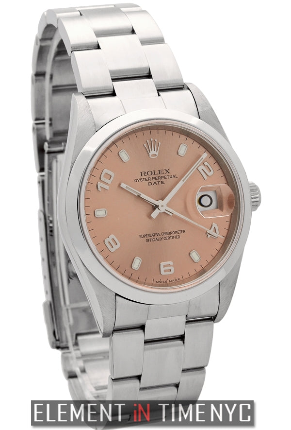 34mm Date Steel Salmon Dial Y Serial