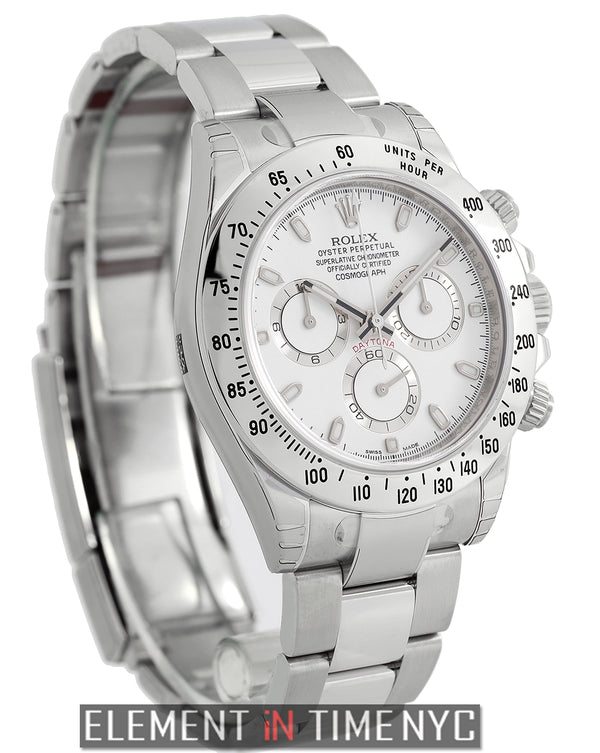 Stainless Steel 40mm White Dial