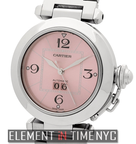 Pasha C Large Date Stainless Steel 35mm Pink Dial