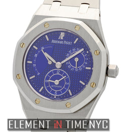 Dual Time Power Reserve Electric Blue Dial 36mm
