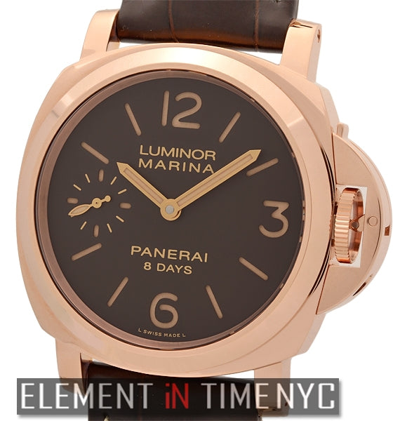 Luminor Marina 8 Days 18k Rose Gold