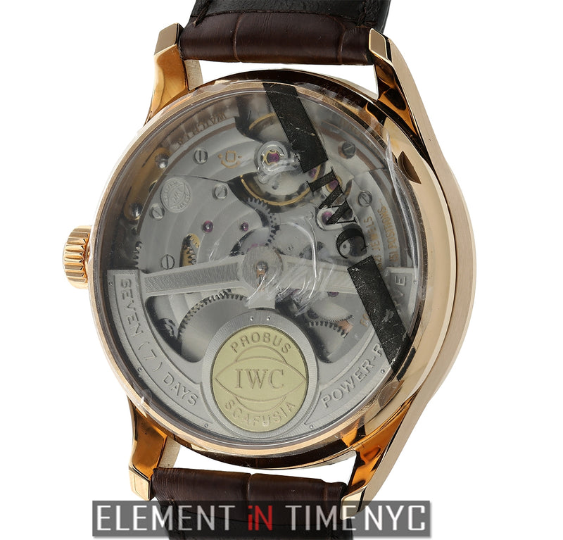 7-Day Power Reserve 18k Rose Gold Silver Dial