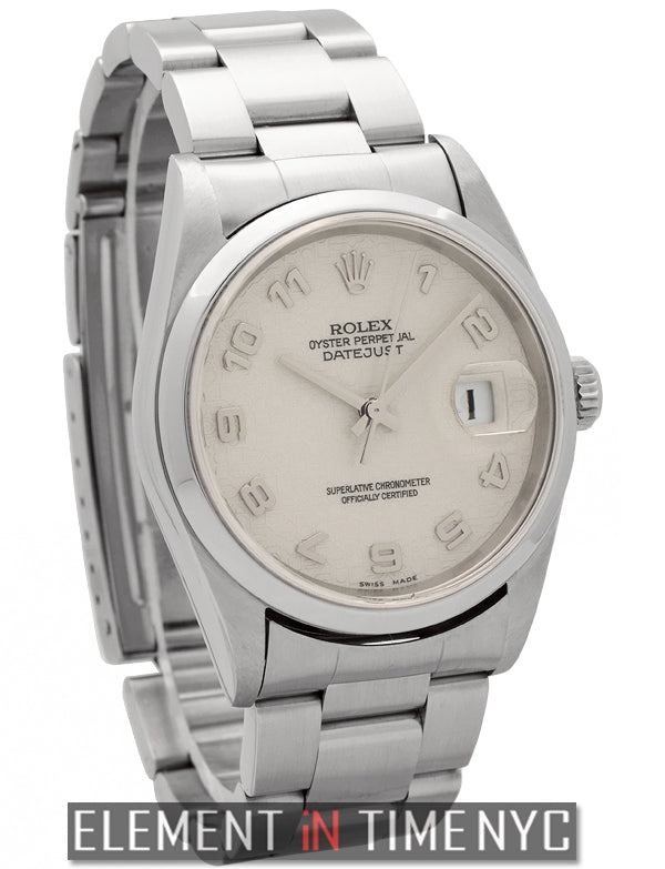 Stainless Steel 36mm Silver Jubilee Dial F Serial