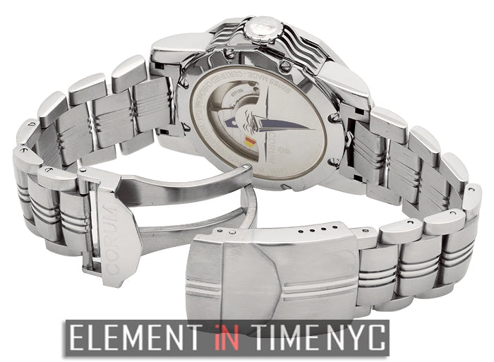 Stainless Steel 44mm White Dial