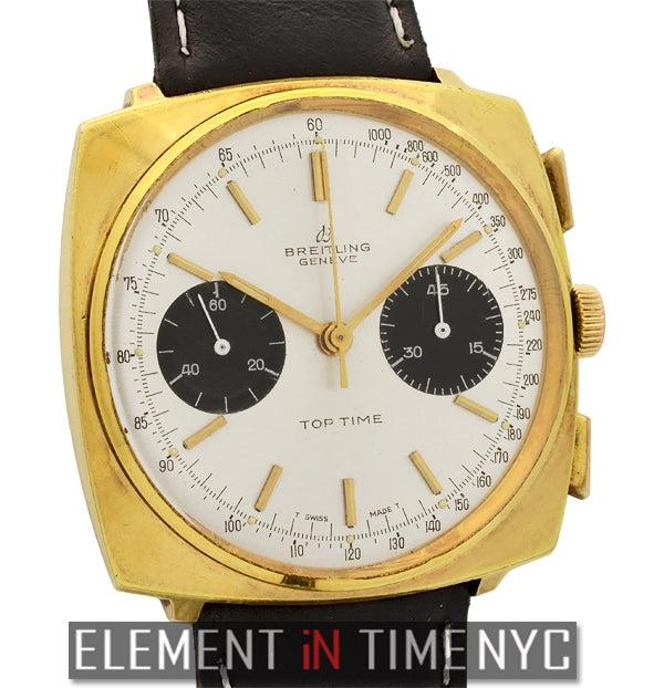 Top Time Yellow Gold Plated Panda Dial 1960's