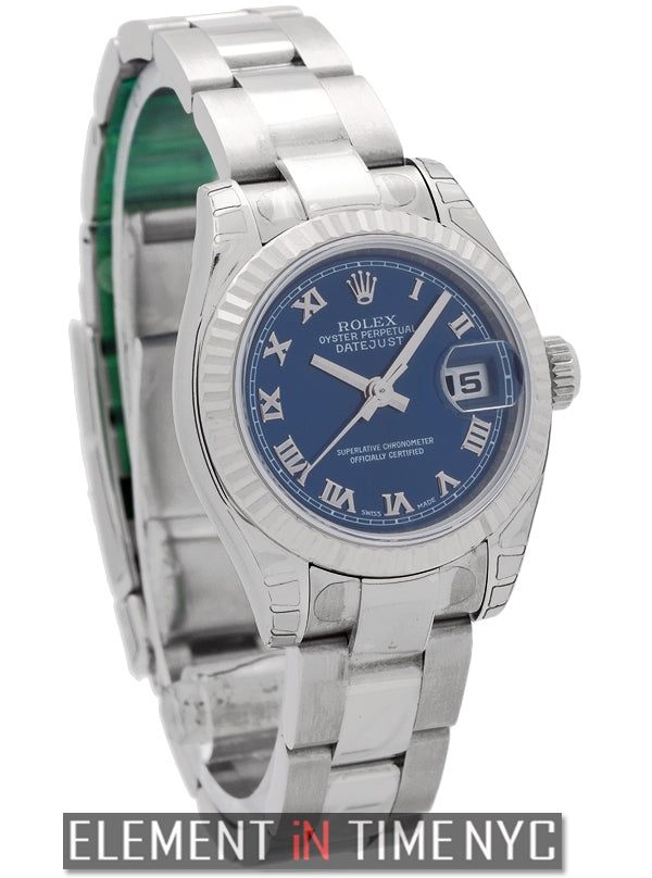 Ladies 26mm Stainless Steel Blue Roman Dial