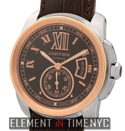 Calibre Steel & 18k Rose Gold Chocolate Dial