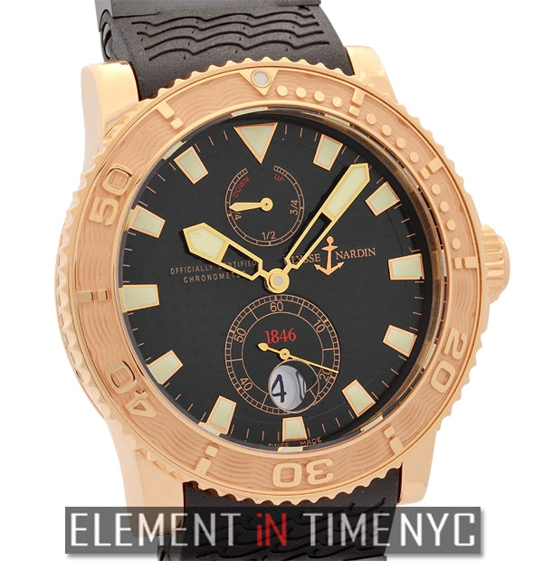 Diver 18k Rose Gold Black Dial 43mm