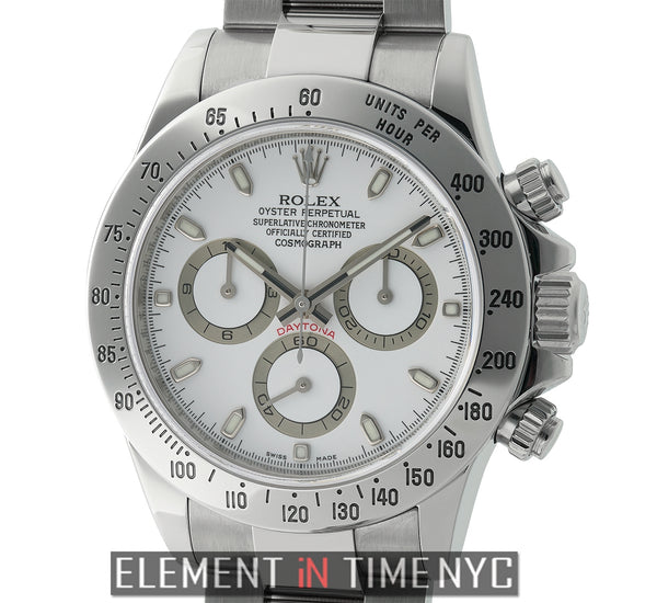 Stainless Steel White Dial V Serial 2010