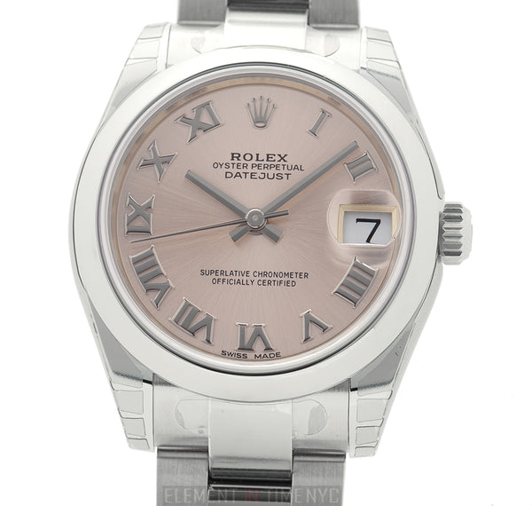 31mm Stainless Steel Pink Roman Dial Oyster Bracelet
